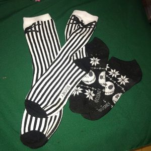 Disney Accessories - Disney 4 pair socks- Nightmare Before Christmas